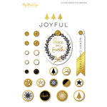 My Minds Eye - Joyful Collection - Christmas - Decorative Brads