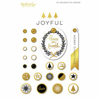 My Minds Eye - Joyful Collection - Christmas - Decorative Brads