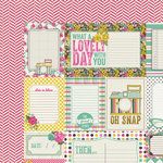 My Mind's Eye - Kate and Co Collection - Cambridge Court - 12 x 12 Double Sided Paper - Lovely Day