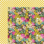 My Mind's Eye - Kate and Co Collection - Cambridge Court - 12 x 12 Double Sided Paper - Bright Florals