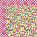 My Mind's Eye - Kate and Co Collection - Cambridge Court - 12 x 12 Double Sided Paper - Mini Flowers