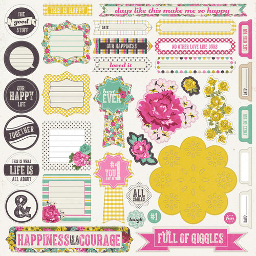 My Mind's Eye - Kate and Co Collection - Cambridge Court - 12 x 12 Cardstock Stickers