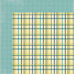 My Mind's Eye - Kate and Co Collection - Oxford Lane - 12 x 12 Double Sided Paper - Plaid