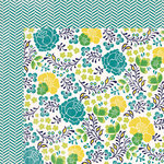 My Mind's Eye - Kate and Co Collection - Oxford Lane - 12 x 12 Double Sided Paper - Fresh
