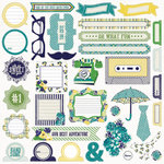 My Mind's Eye - Kate and Co Collection - Oxford Lane - 12 x 12 Cardstock Stickers
