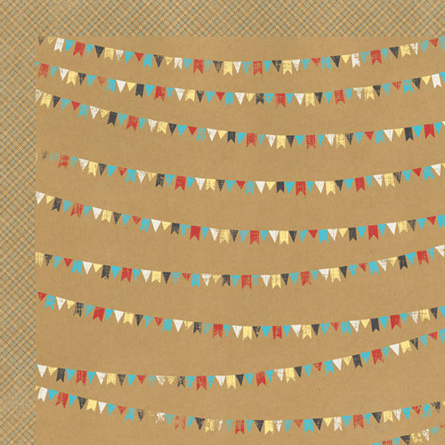 My Mind's Eye - Kraft Funday Collection - Happy Days - 12 x 12 Double Sided Kraft Paper - Good Times