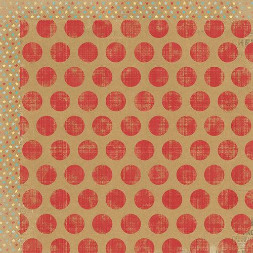 My Mind's Eye - Kraft Funday Collection - Happy Days - 12 x 12 Double Sided Kraft Paper - Lollipop Dots
