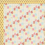 My Mind's Eye - Kraft Funday Collection - Happy Days - 12 x 12 Double Sided Kraft Paper - Lemon Drop