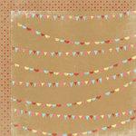 My Mind's Eye - Kraft Funday Collection - Happy Days - 12 x 12 Double Sided Kraft Paper - Sprinkles