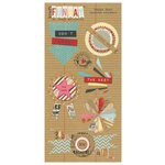 My Mind's Eye - Kraft Funday Collection - Happy Days - 3 Dimensional Stickers