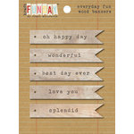 My Mind's Eye - Kraft Funday Collection - Everyday Fun - Wood Banners
