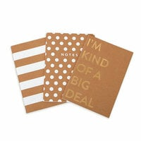 My Minds Eye - Kraft Collection - Notebooks with Gold Foil Accents