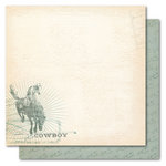 My Mind's Eye - Portobello Road Collection - 12 x 12 Double Sided Paper - Boy Cowboy, CLEARANCE