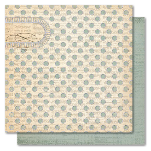 My Mind's Eye - Portobello Road Collection - 12 x 12 Double Sided Glitter Paper - You and Me Dearest, CLEARANCE