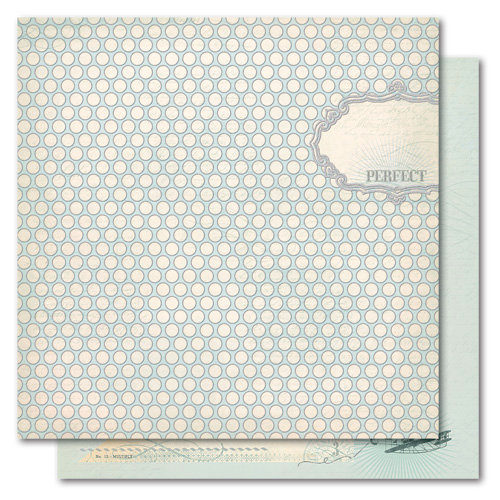 My Mind's Eye - Portobello Road Collection - 12 x 12 Double Sided Glitter Paper - Buddies Perfect, CLEARANCE