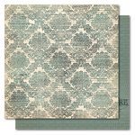 My Mind's Eye - Portobello Road Collection - 12 x 12 Double Sided Paper - Family Brocade, CLEARANCE