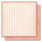 My Mind's Eye - Market Street Collection - 12 x 12 Double Sided Glitter Paper - Lovely French Stripe, CLEARANCE