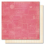 My Mind's Eye - Madison Avenue Collection - 12 x 12 Double Sided Paper - Happily Ever After Labeled, CLEARANCE