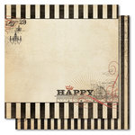 My Mind's Eye - Union Square Collection - 12 x 12 Double Sided Glitter Paper - Perfect Happy, CLEARANCE