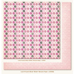 My Mind's Eye - Lost and Found 2 Collection - Blush - 12 x 12 Double Sided Glitter Paper - Better Blossom