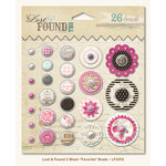 My Mind's Eye - Lost and Found 2 Collection - Blush - Decorative Brads with Glitter Accents - Favorite