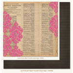 My Mind's Eye - Lost and Found 2 Collection - Blush - 12 x 12 Double Sided Glitter Paper - Favorite Dance