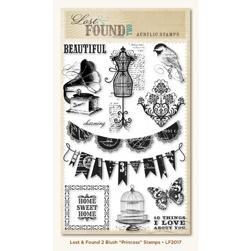 My Mind's Eye - Lost and Found 2 Collection - Blush - Clear Acrylic Stamps - Princess