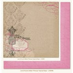 My Mind's Eye - Lost and Found 2 Collection - Blush - 12 x 12 Double Sided Glitter Paper - Princess Special