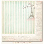 My Mind's Eye - Lost and Found 2 Collection - Blush - 12 x 12 Double Sided Paper - Sweet Eiffel