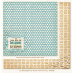 My Mind's Eye - Lost and Found 2 Collection - Breeze - 12 x 12 Double Sided Glitter Paper - Boyish Handsome