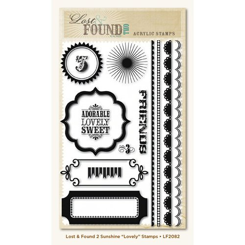 My Mind's Eye - Lost and Found 2 Collection - Sunshine - Clear Acrylic Stamps - Lovely