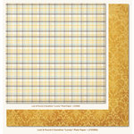 My Mind's Eye - Lost and Found 2 Collection - Sunshine - 12 x 12 Double Sided Paper - Lovely Plaid