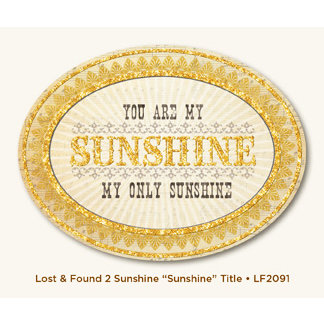 My Mind's Eye - Lost and Found 2 Collection - Sunshine - Glittered Title - Sunshine