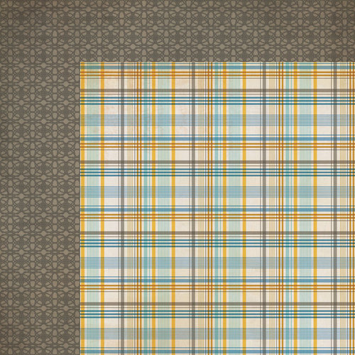 My Mind's Eye - Lost and Found 3 Collection - Oliver - 12 x 12 Double Sided Paper - Multi Plaid