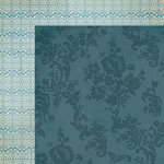 My Mind's Eye - Lost and Found 3 Collection - Oliver - 12 x 12 Double Sided Paper - Blue Lace