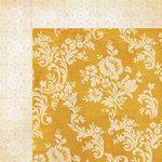My Minds Eye - Lost and Found 3 Collection - Oliver - 12 x 12 Double Sided Paper - Yellow Floral