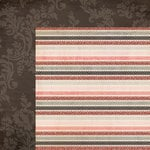 My Mind's Eye - Lost and Found 3 Collection - Ruby - 12 x 12 Double Sided Glitter Paper - Stripes