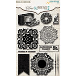 My Mind's Eye - Lost and Found 3 Collection - Ruby - Clear Acrylic Stamps