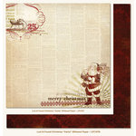 My Mind's Eye - Lost and Found Collection - Christmas - 12 x 12 Double Sided Glitter Paper - Santa