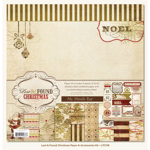 My Mind's Eye - Lost and Found Collection - Christmas - 12 x 12 Paper Kit
