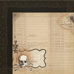 My Mind's Eye - Lost and Found Collection - Halloween - 12 x 12 Double Sided Glitter Paper - Hallows Cottage