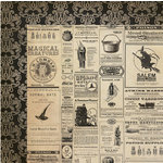 My Mind's Eye - Lost and Found Collection - Halloween - 12 x 12 Double Sided Paper - Hallows Halloween Ads
