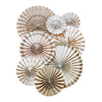 My Mind's Eye - Vintage Collection - Party Fans with Gold Glitter Accents