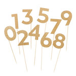 My Minds Eye - Vintage Collection - Large Party Picks - Numbers with Glitter Accents