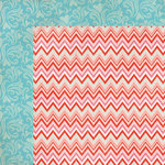 My Mind's Eye - Lucky in Love Collection - 12 x 12 Double Sided Paper - Chevron