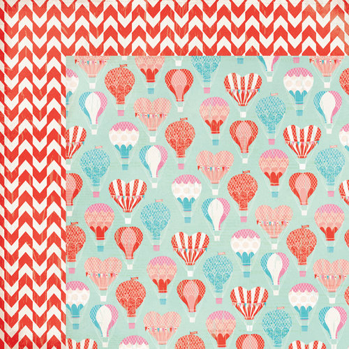 My Mind's Eye - Lucky in Love Collection - 12 x 12 Double Sided Paper - Along For The Ride
