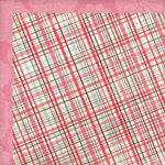 My Mind's Eye - Love Me Collection - 12 x 12 Double Sided Paper - Plaid