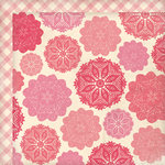 My Mind's Eye - Love Me Collection - 12 x 12 Double Sided Paper - Doilies