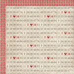 My Mind's Eye - Love Me Collection - 12 x 12 Double Sided Paper - Numbers Grid