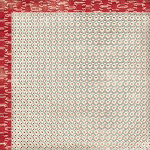 My Mind's Eye - Love Me Collection - 12 x 12 Double Sided Paper - Hearts